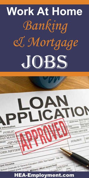 Banking and mortgage underwriting work from home jobs are available at HEA-Employment.com