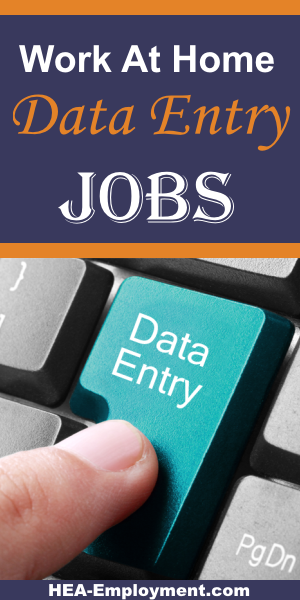 Data entry telecommuting work from home jobs are available at HEA-Employment.com